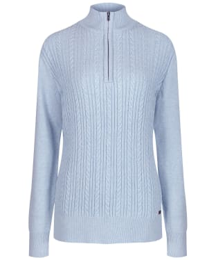 Women's Dubarry Garvey Half Zip Sweater - Pale Blue