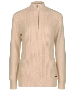 Women's Dubarry Garvey Half Zip Sweater - Oyster