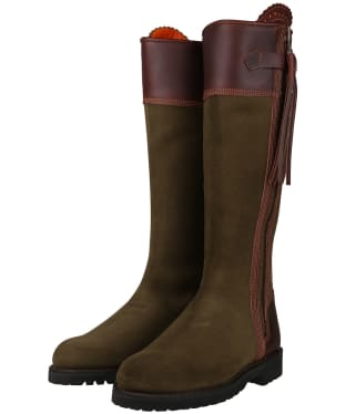 Women's Penelope Chilvers Inclement Long Tassel Boots - Seaweed / Conker Brown