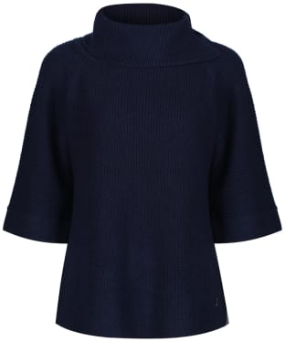 Women's Joules Sarah Knitted Poncho - French Navy