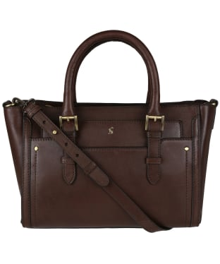Women's Joules Hathaway Mini Leather Grab Bag - Chocolate