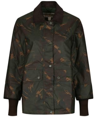 Women's Barbour Feather Tawny Waxed Jacket - Feather
