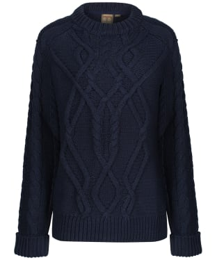 Women's Musto Hollie Chunky Cable Knitted Sweater - True Navy