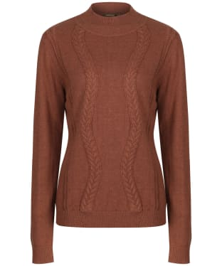 Women's Musto Tixall Roll Neck Knitted Sweater - Burnt Caramel