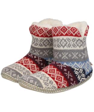 Women's Seasalt Snooze Slipper Booties - Beryllium Mainsail