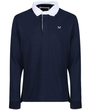 Men's Crew Clothing Long Sleeve Rubgy Top - Navy