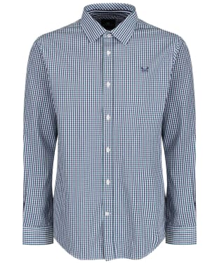 Men's Crew Clothing Classic Tattersall Shirt - Wash Ivy/Bright Navy