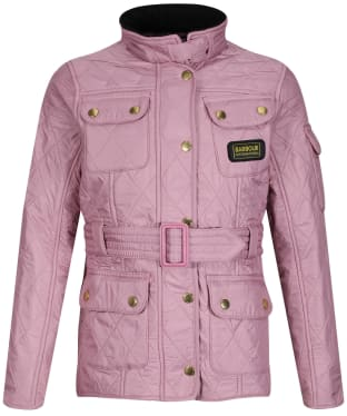 Girl's Barbour International Quilted Jacket, 2-9yrs - Rose Bay