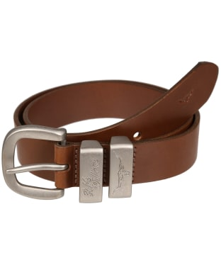 "Men's R.M. Williams 1 1/2"" 3 Piece Solid Hide Belt - Dark Tan"