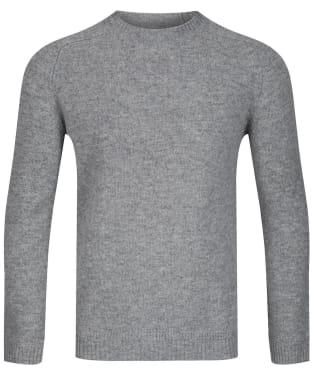 Men's GANT Shetland Crew Neck Sweater - Grey Melange