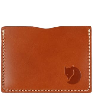 Fjallraven Ovik Card Holder - Leather Cognac