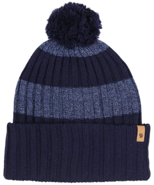 Fjallraven Byron Striped Pom Hat - Dark Navy / Uncle Blue