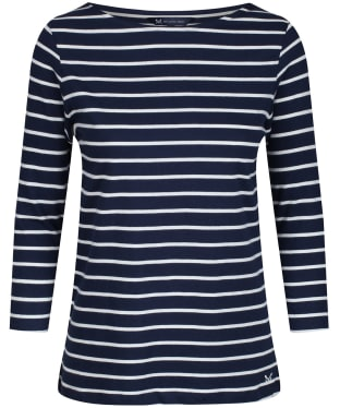 Women's Crew Clothing Essential Breton Top - Navy / White