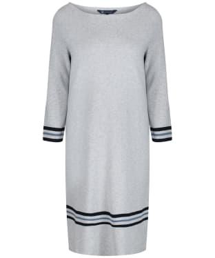 Women's Crew Clothing Tipped Milano Dress - Grey / Blue / Navy