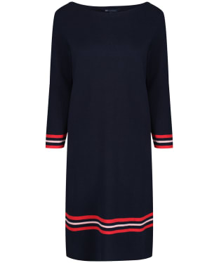 Women's Crew Clothing Tipped Milano Dress - Navy / Rose