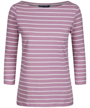 Women's Crew Clothing Essential Breton Top - Orchid / White