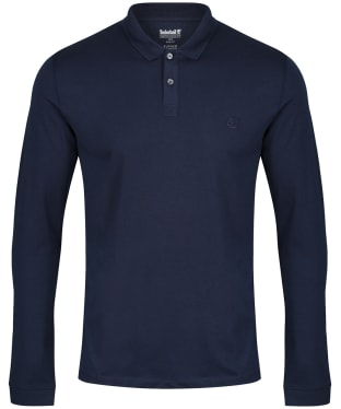 Men's Timberland LS Cocheco River Supima Cotton Polo Shirt - Dark Navy