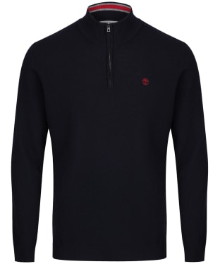 Men's Timberland Cohas Brook Merino Half Zip Sweater - Dark Navy