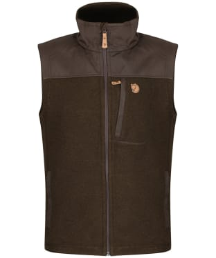 Men's Fjallraven Buck Fleece Vest - Dark Olive