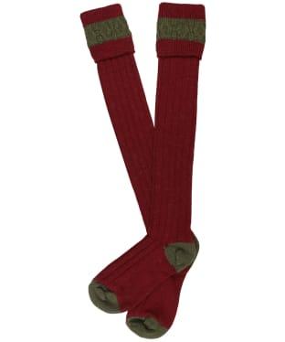 Pennine Byron Socks - Burgundy