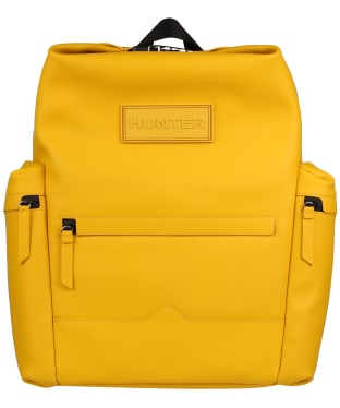 Hunter Original Large Top Clip Backpack - Rubberised Leather - Yellow