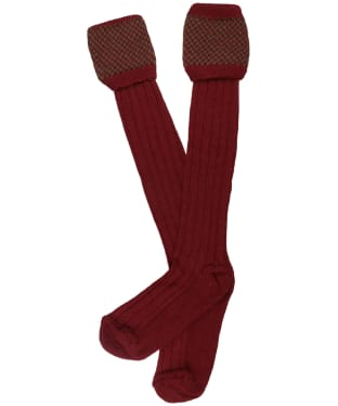 Men's Pennine Penrith Shooting Socks - Olive / Burgundy