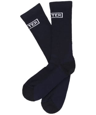 Men's Hunter Original Knitted Boot Socks - Short - Navy