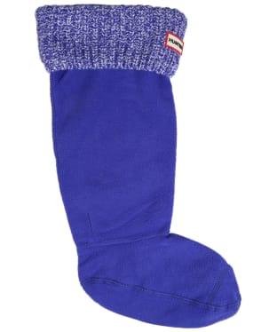 Hunter Half Cardigan Stitch Boot Socks - Electrical Storm Marl