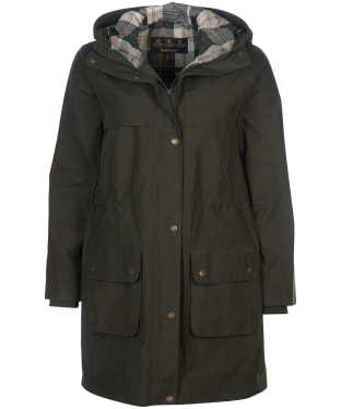 Women's Barbour Marina Fogle Huckabee Waterproof Jacket - Olive