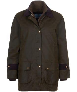 Women's Barbour Marina Fogle Paisley Waxed Jacket - Olive