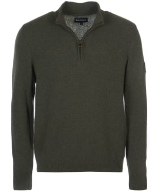 Men's Barbour Ben Fogle Half Zip Sweater - Olive Marl