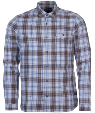 Men's Barbour Ben Fogle Check Shirt - Grey Marl