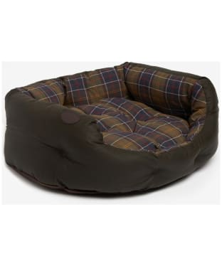 "Barbour Wax Cotton Dog Bed 30"" - Classic / Olive"