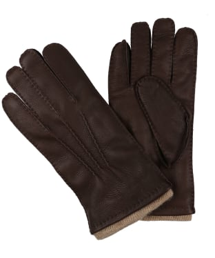 Men's Dubarry Lisryan Leather Gloves - Mahogany