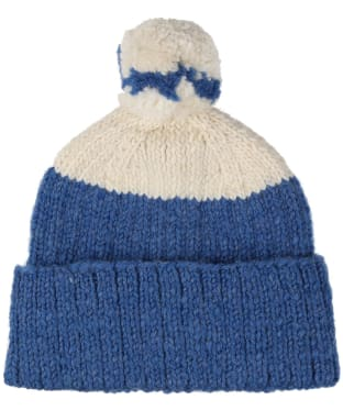 Men's Edmund Hillary Block Bobble Hat - Ecru / Royal