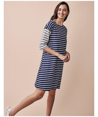Women's Crew Clothing Breton Dress - Navy Stripe