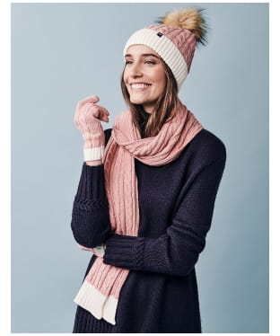 Women's Crew Clothing Ellesmere Bobble Hat - Pink