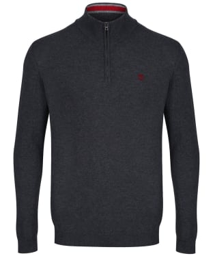 Men's Timberland Cohas Brook Merino Half Zip Sweater - Phantom Heather