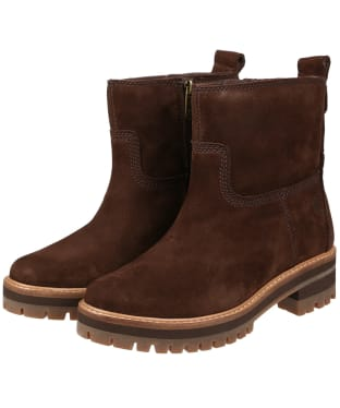 Women's Timberland Courmayeur Valley Faux Fur Boots - Dark Walnut