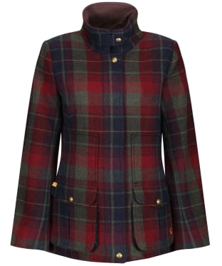 Women's Joules Fieldcoat Tweed Jacket - Red Tweed