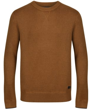 Men's Joules Eskdale Milano Stitch Jumper - Burnt Caramel Marl