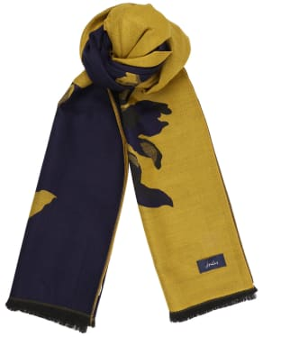 Women's Joules Jacquelyn Reversible Scarf - Gold Floral