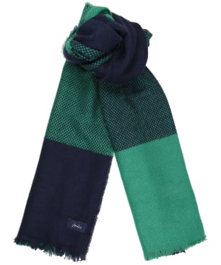 Women's Joules Meadow Scarf - Navy Check