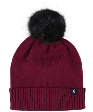 Women's Joules Snowday Beanie Hat - Berry