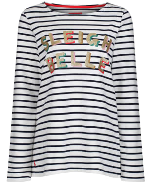 Women's Joules Harbour Print Top - SLEIGH STRIPE