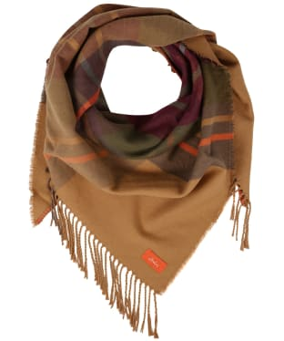 Women's Joules Wilstow Scarf - Brown Check
