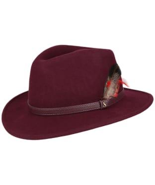 Women's Joules Felt Fedora Hat - Oxblood