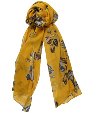 Women's Joules Wensley Printed Scarf - Gold Floral