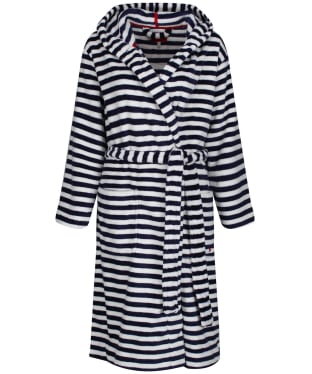 Women's Joules Rita Fluffy Dressing Gown - French Navy Star Stripe