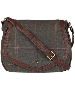 Women's Joules Avebury Tweed Saddle Bag - Dark Green Grid Tweed